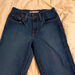 721 Levi's high waisted skinny jeans